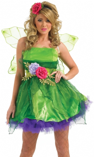 Plus Size Fairy Nymph Fancy Dress Costume